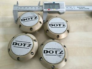 4x DOTZ 68mm  wheel centre caps  ZO 2070 # JL243