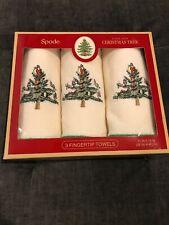 Spode Christmas Tree 3 Fingertip Towels *NEW* Avanti Linens