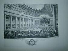 Planche gravure Ouverture des états généraux de 1789 d'après Monnet