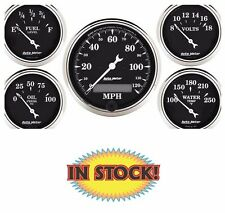 "Auto Meter Old Tyme Black 5 PC. Gauge Kit with Electric Speedometer 3-1/8"" 1709"