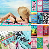 Microfiber Bath Beach Towel Soft Reactive Print Washcloth Casual Sunbathing Mat