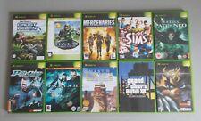 10 Original XBOX/XBOX 360 Jeux Myst   Halo   GTA 3   VEXX   Sims   paria   Matrix   PSI-OPS