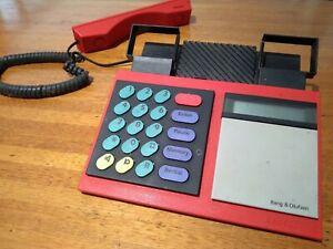 Bang & Olufsen, Landline corded Telephone. Beocom 1000, Red