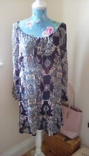 a98daa759d8f XHILARATION Women s Shift Dress Black Mix Floral Tunic Dress Size Small XXL