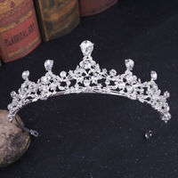 Vintage Rhinestone Bridal Crown Handmade Tiara Headband Crystal Diadem Wedding