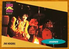 "JIMI HENDRIX, 1991 PRO SET MUSIC ""SUPER STARS"" CARD IN EXCELLENT CONDITION !"