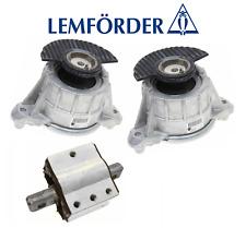 OEM Engine Motor Mount Hydraulic Set + Transmission Mount 3pc Mercedes E400 E550