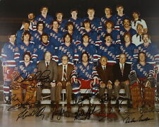 (#286) New York Ranger Signed Team Picture 1979  11 Signatures