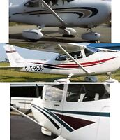 Aircraft Graphics Decals stripes airplane 152 172 177 182  400 Airplane Sticker