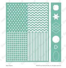 Cuttlebug 5x7 Embossing Embossables Pattern & Folder - Basic Shapes - 2002166