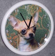 CHIHUAHUA DOG (FAWN COLORING) WALL CLOCK