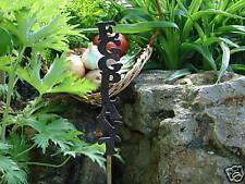 Eggplant Metal Vegetable Garden Stake Marker Label Row