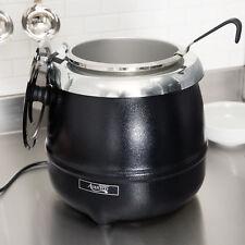 Avantco S30 11 Qt. Round Black Countertop Food / Soup Kettle Warmer 120V 400W