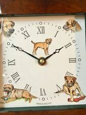 Lover Of The Border Terrier Dogs - A Clock With His Image