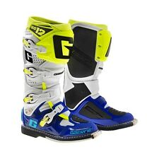 Gaerne SG-12 SG12 White Blue Neon Men Size 11 MX Off Road Boots 2174-050-011