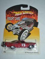 2007 HOT WHEELS FRIGHT CARS '57 PLYMOUTH FURY REAL RIDERS VHTF !! RARE !!