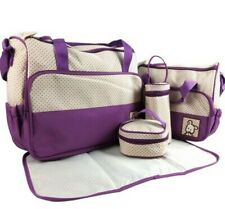 Adoraland 5 Piece Baby Changing Bag Purple