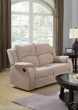 Beige Brown Fabric Material Manual Reclining Recliner Sofa Suite Dorset 32 2 Seater
