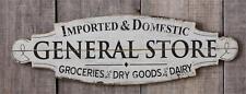 "New Rustic Primitive Farmhouse Antique Style GENERAL STORE Wood Plaque Sign 31"""