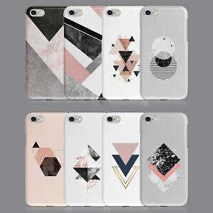 GEOMETRIC MARBLE ROSE GOLD PHONE CASE FOR IPHONE 7 8 XS XR SAMSUNG S8 S9 PLUS