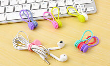 Magnetic Cable Organiser Headphone Tidy Cord Multifuntion Winder 3pcs Blue
