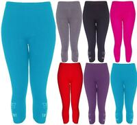 NEW LADIES 3/4 BUTTERFLY SEQUIN WOMENS STRETCH PLUS SIZE LEGGINGS 12-30