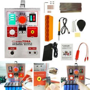 1.9KW 60A Mig Spot Welder Punktschweißgerät Lötung Battery Welding 709A 220V