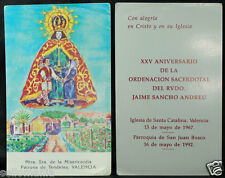 OLD BLESSED OUR LADY OF MERCY HOLY CARD 1992 ANDACHTSBILD SANTINI ESTAMPA  CC903