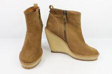 Boots ZARA WOMAN Suede brown Wedge heels T 36 VERY GOOD CONDITION