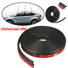 4M Black Z-shape Window Door Rubber Seal Weather Strip Hollow Car Weatherstrip