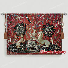 """The Lady & Unicorn Medieval Fine Art Tapestry Wall Hanging - SIGHT, 54""""x41"""", UK"""