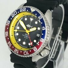 Seiko Diver Watch 7002 GMT Quartz - Pepsi bezel  - Yellow hands -1177