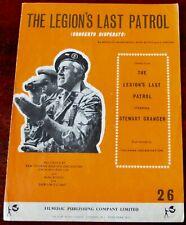 NINI ROSSO THE LEGION'S LOST PATROL OST PIANO Bb INSTRUMENT SHEET MUSIC (1963)