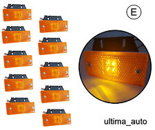 10X 12V 24V ORANGE AMBER LED SIDE MARKER LIGHTS  INDICATOR TRAILER HORSEBOX VAN