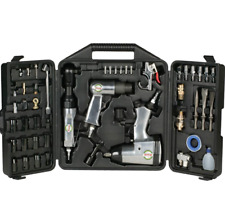 Grizzly Air Tool 50 pc. Kit Compact Wrench Ratchet Hammer Socket Set Extension B