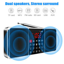 Portable Digital FM Radio Stereo Mini MP3 Player USB AUX Disk SD TF Speaker US