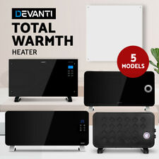Devanti Electric Heater Portable Space Metal Panel Convection Wall Remote/ WIFI