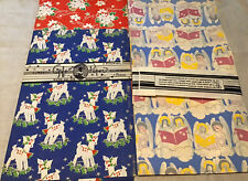 Vintage Christmas Gift Wrapping Paper 11 Sheets Angels Reindeer