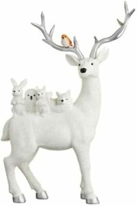 New Durable Stag & Woodland Animals Ornament Christmas Decoration - White
