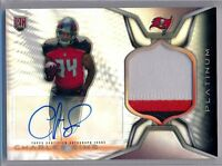 CHARLES SIMS - 2014 Topps Platinum Refractor 3 Color Patch Auto - Bucs RC