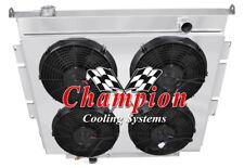 "2 Row 1"" Perf Radiator,12"" Fans,Shroud for 1983-1994 Ford F-Series Diesel V8 Eng"