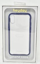 Apple iPhone X/XS Clear Case with Bumper Frame - Purple, Heyday