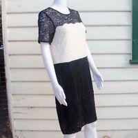 H&M Ladies Colour Black & White Lace Dress Size Small, Medium