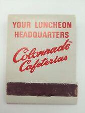 Colonnade Cafeterias Matchbook front strike unstruck complete cincinnati 1971