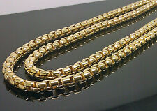 Brand New Men's 10K Yellow Gold Box Chain 30 Inches Long, 5mm #Rope/Cuben/Franco