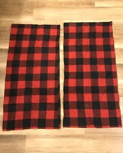 2 Seasons Collection Red & Black Buffalo Plaid King Size Flannel Pillowcases
