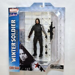 Diamond Marvel Select Captain America: Civil War Winter Soldier Bucky Figure NEW