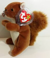 """TY Beanie Babies """"NUTS"""" the SQUIRREL - MWMTs! RETIRED! A MUST HAVE! PERFECT GIFT"""