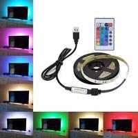 STRISCIA LED TV USB 2 METRI 20 COLORI A FANTASIA 5V ADESIVE