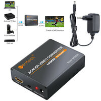 1080P  Audio Video Adapter Scart To HDMI MHL Converter USB Cable For TV DVD SKY